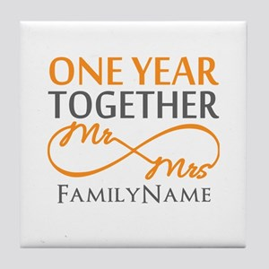 Gift For 1st Wedding Anniversary Tile Coaster