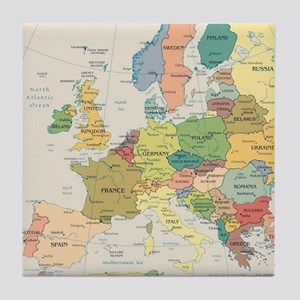 Europe Map Tile Coaster
