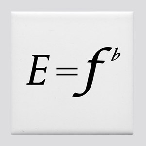 E equals F flat Tile Coaster