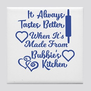 Bubbies Kitchen Blue Tile Coaster