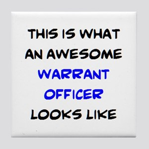 awesome warrant officer3 Tile Coaster