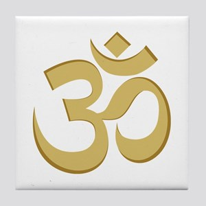 Om, Gold Tile Coaster