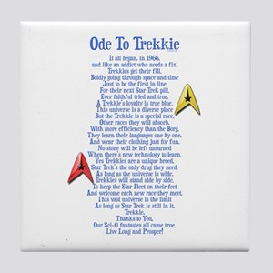 Ode To Trekkie Tile Coaster