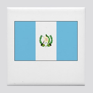 Guatemala Flag Picture Tile Coaster