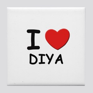 I love Diya Tile Coaster