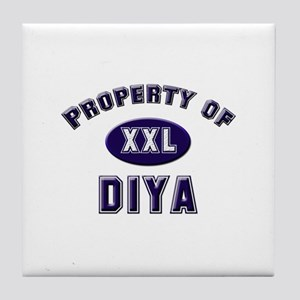 Property of diya Tile Coaster