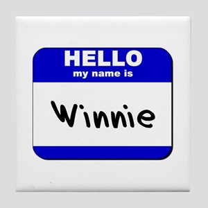 hello my name is winnie  Tile Coaster