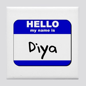 hello my name is diya  Tile Coaster