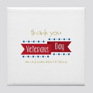 Thank You Veterans Tile Coaster