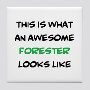 awesome forester Tile Coaster
