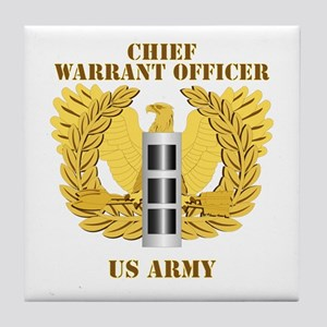 Army - Emblem - Warrant Officer CW3 Tile Coaster