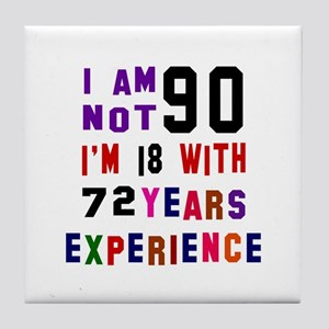 90 Birthday Designs Tile Coaster