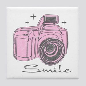 Camera Smile Tile Coaster