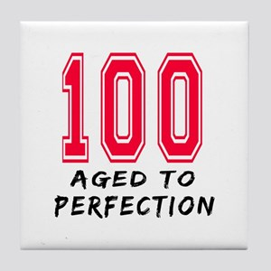 100 Year birthday designs Tile Coaster