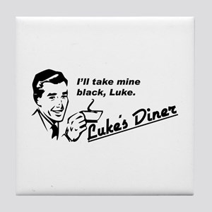 Take Mine Black - Luke's Diner Tile Coaster