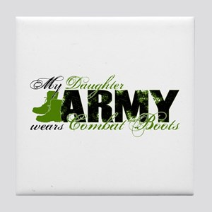 Daughter Combat Boots - ARMY Tile Coaster