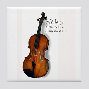 Viola Gifts Tile Coaster
