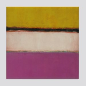 ROTHKO PINK ORANGE Tile Coaster