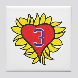 One Tree Hill Flaming Heart Tile Coaster