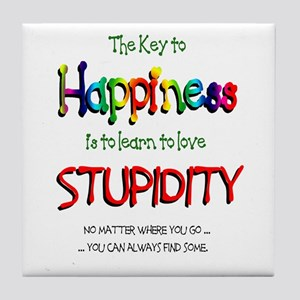 Key to Happiness Tile Coaster