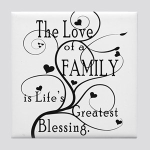 Love of Family Tile Coaster