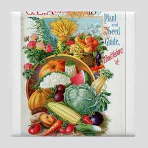 1898 Plant and Seed Guide Tile Coaster