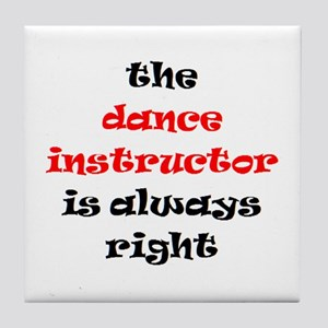 dance instructor right Tile Coaster