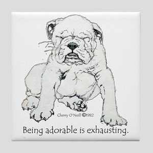 Bulldog Puppy Tile Coaster