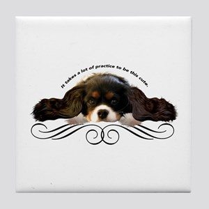 Cavalier Cute plain Tile Coaster