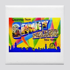 Coney Island New York Tile Coaster