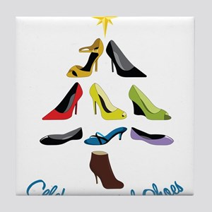 Celebrate With Shoes Tile Coaster