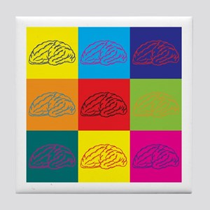 Neurology Pop Art Tile Coaster