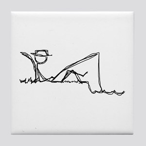 Lazing Fisherman Tile Coaster