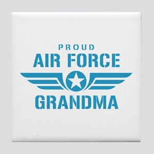 Proud Air Force Grandma W Tile Coaster