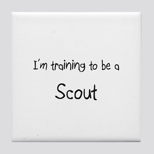 I'm training to be a Scout Tile Coaster
