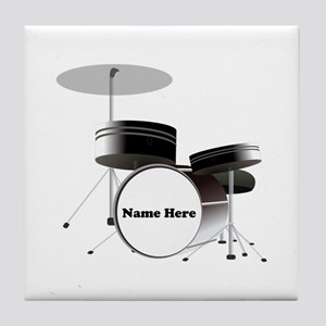 Drums Personalized Tile Coaster