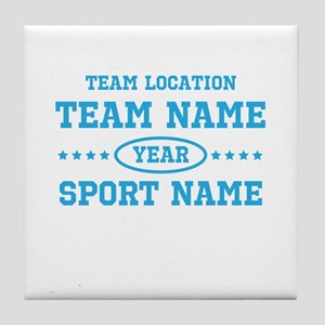 Sports Team Personalized Tile Coaster
