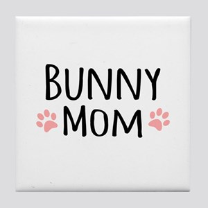 Bunny Mom Tile Coaster