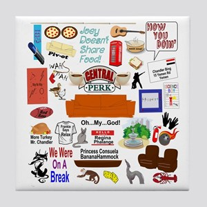 Friends TV Show Collage Tile Coaster