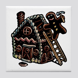 Gingerbread Carpenter Tile Coaster