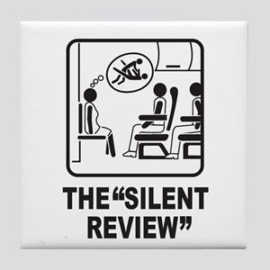 Silent Review Tile Coaster