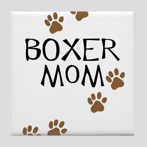 Boxer Mom Tile Coaster