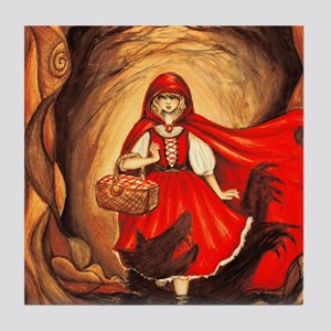 RedRidingHood2 Tile Coaster