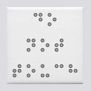 Do Not Touch in Braille (Grey) Tile Coaster