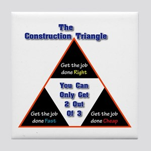 Construction Triangle Tile Coaster