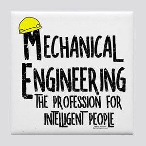 Smart Mechanical Engineer Rough Text Tile Coaster