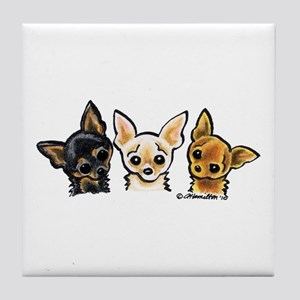 3 Smooth Chihuaha Tile Coaster