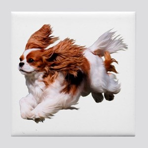 Cavalier Running- Blenheim Tile Coaster