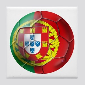 Portuguese Soccer Ball Tile Coaster