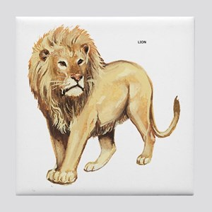Lion Animal Tile Coaster